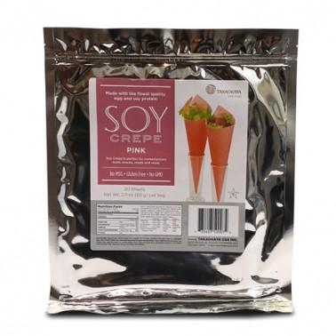 Hojas de soja para maki 20 hojas color rosa