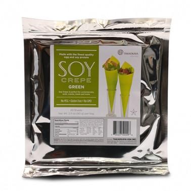 Hojas de soja para maki 20 hojas color verde